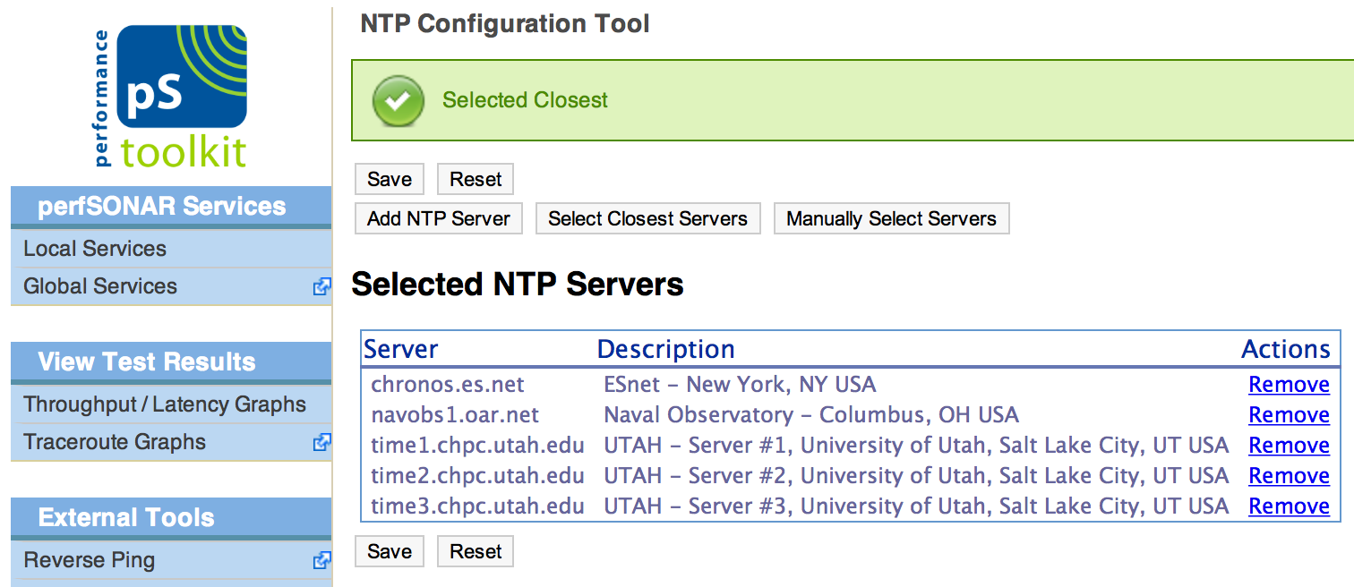 Configuring NTP — perfSONAR Toolkit 3 5rc1 documentation