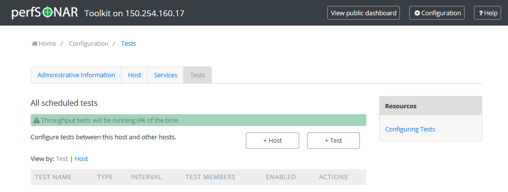 Configuring Regular Tests — perfSONAR Toolkit 4 1 6 documentation